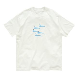 氷とペンギン(5羽) Organic Cotton T-shirts