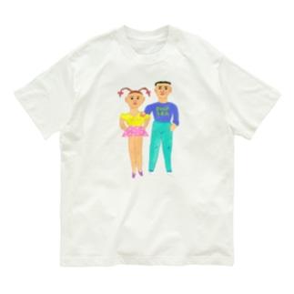 ヘロシナキャメラ売り場の兄妹 Organic Cotton T-shirts