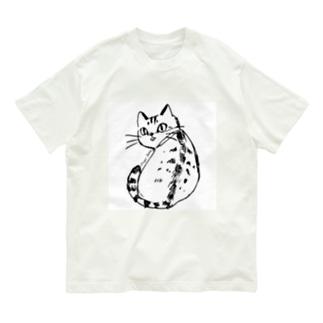 ふりむき、きじとら Organic Cotton T-shirts