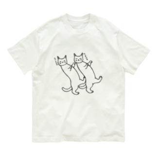 mikepunchの踊る猫たち Organic Cotton T-shirts