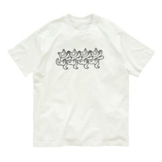 猫おどり Organic Cotton T-Shirt