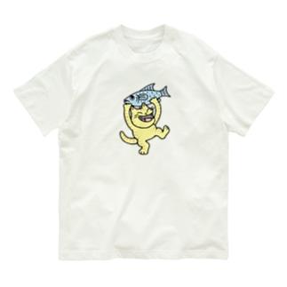 お魚ゲット~♪ Organic Cotton T-Shirt