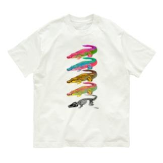イリエワニ4+ホネ Organic Cotton T-shirts