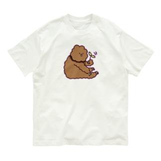 葉っぱくるくるたわしくん Organic Cotton T-Shirt