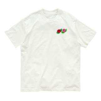 薔薇のステッカー ミニサイズ Organic Cotton T-Shirt
