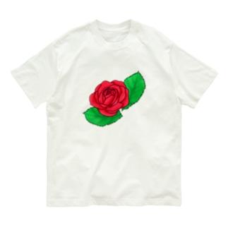真紅の薔薇 Organic Cotton T-Shirt