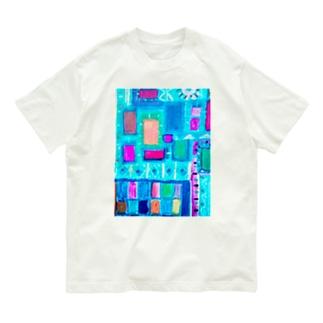 ターコイズスクエア Organic Cotton T-shirts