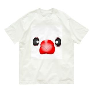 いちご大福?!白文鳥さん Organic Cotton T-Shirt
