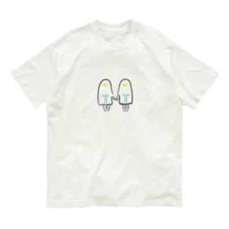 おばけちゃんシスターズ(黒フチ) Organic Cotton T-shirts