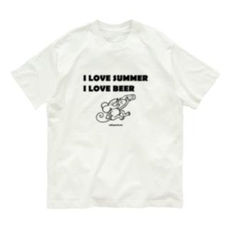 I LOVE SUMMER, I LOVE BEER Organic Cotton T-Shirt