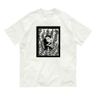 山羊と少年(モノクロ) Organic Cotton T-shirts