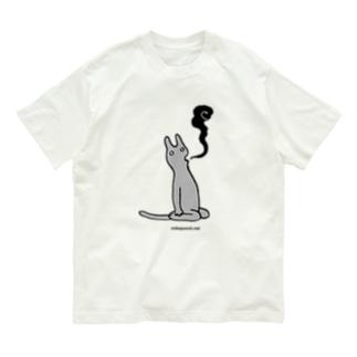 たましいが抜ける猫 Organic Cotton T-Shirt