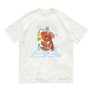 跳ね金魚 Organic Cotton T-shirts