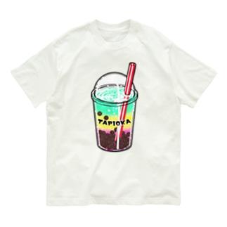 タピオカマニア-レインボー Organic Cotton T-shirts