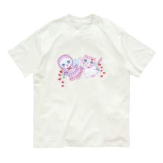 キャンディとベリー(せなかに天使の羽) Organic Cotton T-shirts