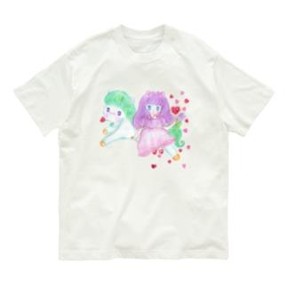 メルティカポエミュウ(せなかに天使の羽) Organic Cotton T-shirts