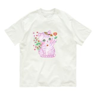 にゃるる(せなかに天使の羽) Organic Cotton T-shirts