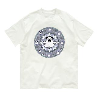曼荼羅ぷーやん(青) Organic Cotton T-Shirt