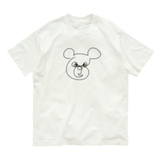一筆書き クマ🐻 Organic Cotton T-Shirt