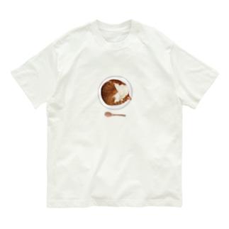 猫カレー🍛おいしそうな いろをした ねこ. Organic Cotton T-Shirt