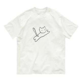 とびねこ Organic Cotton T-Shirt