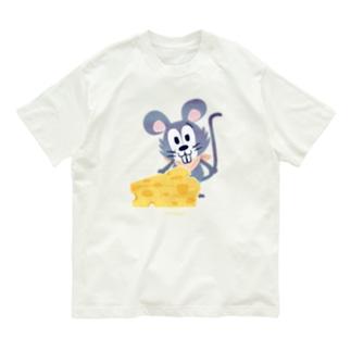 1926チーズはここに!いろいろA Organic Cotton T-shirts