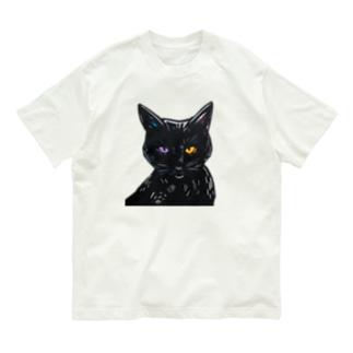 黒猫の目 Organic Cotton T-shirts