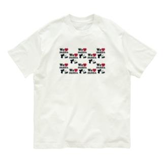 we love パンダ 総柄 Organic Cotton T-Shirt