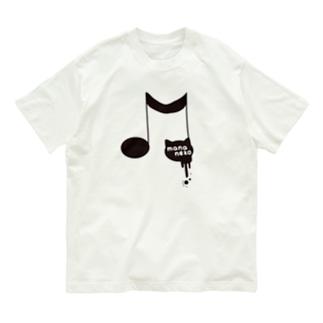 第1弾 まなネコロゴ(フチあり) Organic Cotton T-shirts