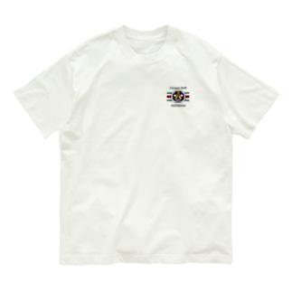 ADOMANI ロゴ ライン付き Organic Cotton T-Shirt