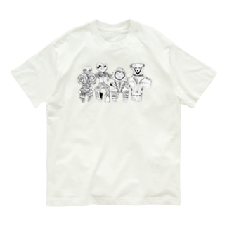 土偶4人組 Organic Cotton T-shirts