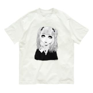 ✨🥺💕✂️🐣🍼🔪🎀🍓つよい精神力🍓🎀🔪🍼🐣✂️💕🥺✨モノクロ Organic Cotton T-shirts