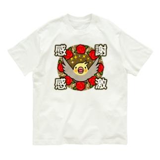 感謝感激オカメインコ【まめるりはことり】 Organic Cotton T-shirts