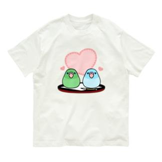 まめ大福マメルリハ【まめるりはことり】 Organic Cotton T-shirts