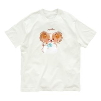 子パピヨン Organic Cotton T-shirts