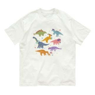 夏の恐竜たち Organic Cotton T-shirts