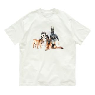 ちょっぴり強面の大きい犬たち。 Organic Cotton T-Shirt