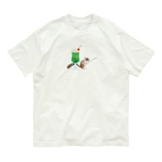 「クリームソーダはいかが?」-シマリスより- Organic Cotton T-shirts
