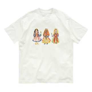 のばら(NOBARA)のFOR KIDS 3人のお姫様Tシャツ Organic Cotton T-Shirt