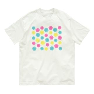 カラフルポップ水引梅結び Organic Cotton T-shirts