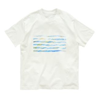 子供のらくがき【夏色ボーダー】 Organic Cotton T-shirts