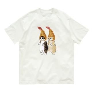 ダブルえび天にゃん Organic Cotton T-shirts
