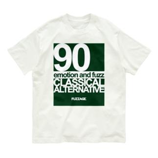 FUZZAGE No.8 Classical Alternative Rock (Green/White) Organic Cotton T-shirts