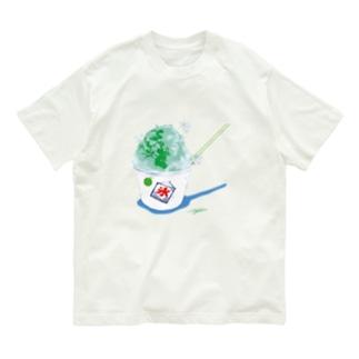 かき氷(メロン) Organic Cotton T-shirts
