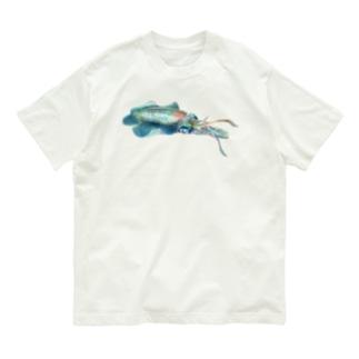 アオリイカ Organic Cotton T-shirts