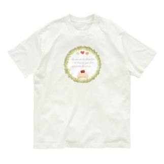 《ボタニカル01》*べあとリースとチョコレート* Organic Cotton T-shirts