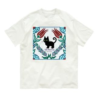 くろねこタイル Organic Cotton T-shirts