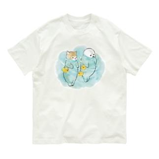 海とにゃんこ Organic Cotton T-shirts