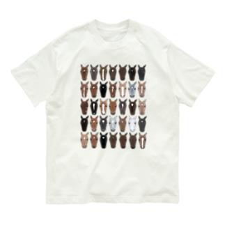 おかおびっしり Organic Cotton T-shirts