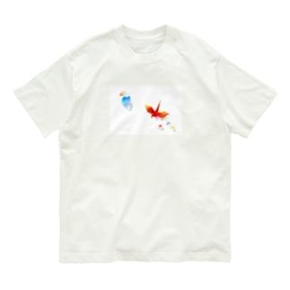 折り鶴 Organic Cotton T-shirts
